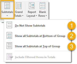 Subtotal-Options 101 Advanced Pivot Table Tips And Tricks You Need To Know