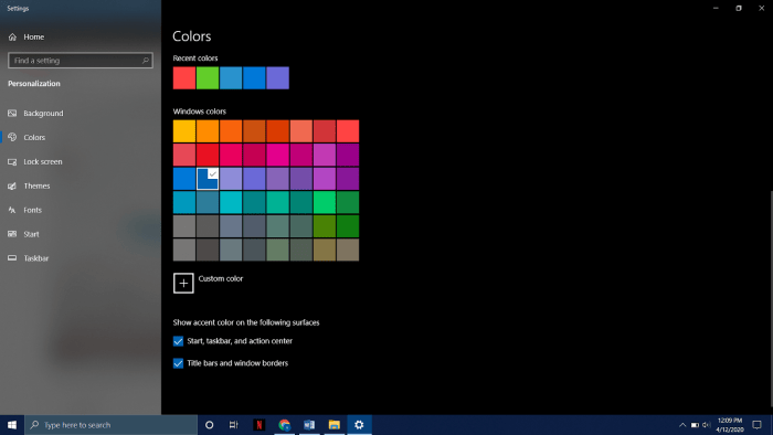 HOW TO CHANGE TASKBAR COLOR IN WINDOWS 10?