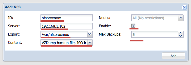 How to setup an NFS Server and configure NFS Storage in Proxmox VE