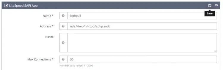 LiteSpeed SAPI App