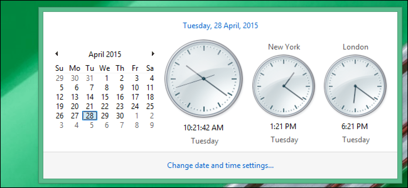 How To View Multiple Time Zones On The System Tray Clock