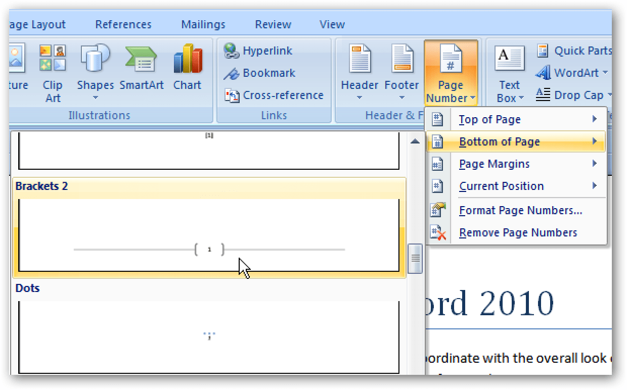 Add Page Numbers To Documents In Word Amp