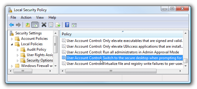 Security Home Windows 7 Policy Local