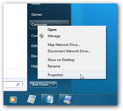 Windows 7 Right-Click Computer