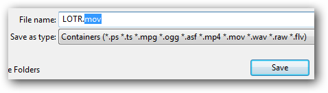 label with a file extension