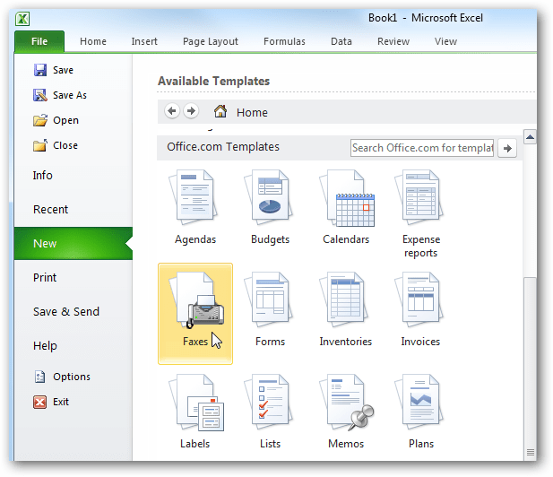 Beginner Using Templates In Ms Office 2010 2007