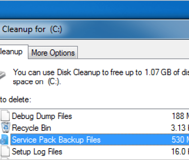 After You Install The Windows 7 Service Pack 1 That We Mentioned Yesterday You Might Be Wondering How To Reclaim Some Of The Lost Drive Space Which Well