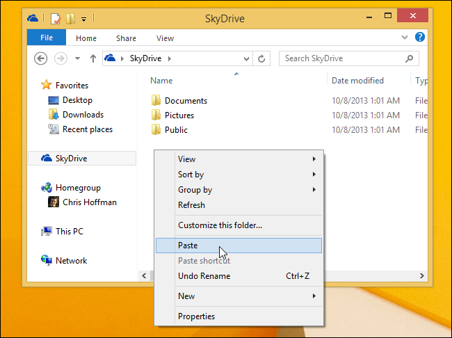 move-folder-to-skydrive
