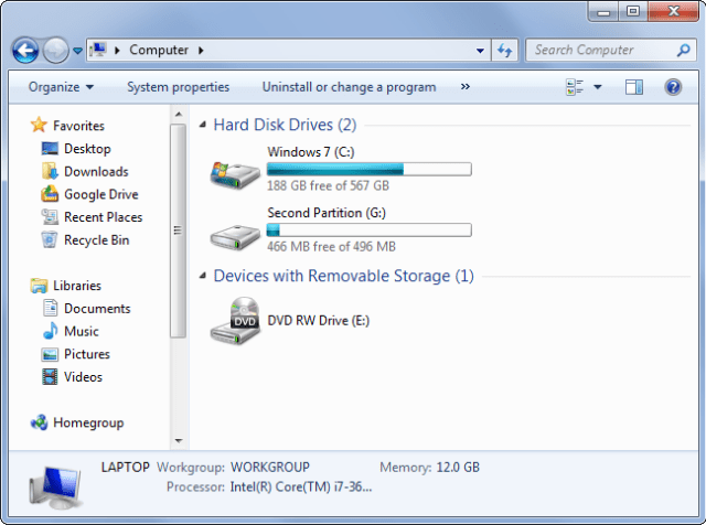 two-partitions-in-windows-explorer