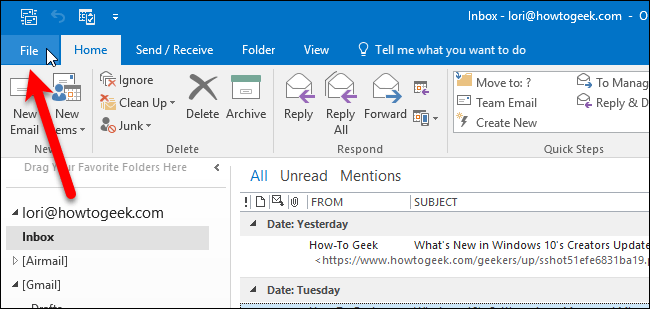 Outlook Windows New 7 Email