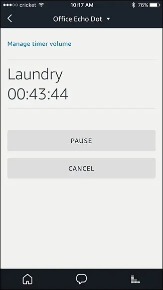 pause or cancel timer