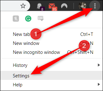 Click the menu button, and then click Settings
