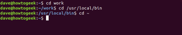 cd command in a terminal window
