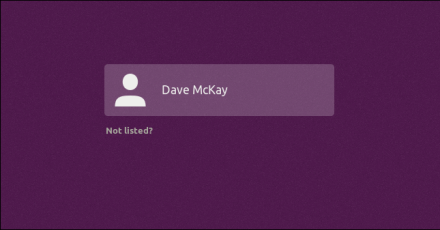 user selection screen with purple highlight bar