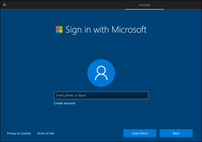 Confirmed: Windows 10 Setup Now Prevents Local Account Creation