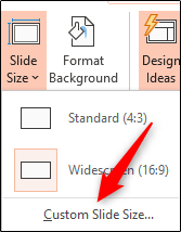 custom slide size
