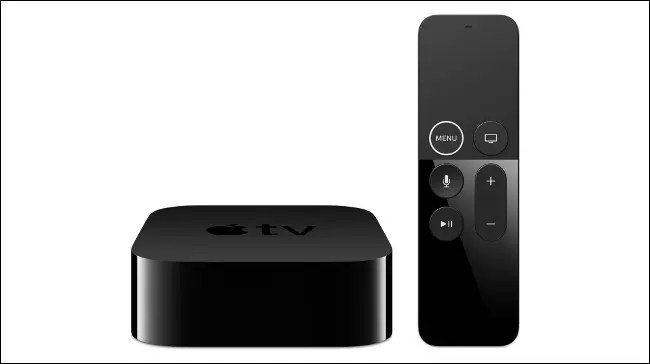 An Apple TV 4K and remote.