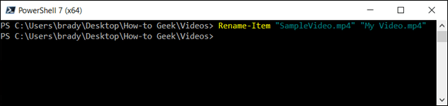 Type the cmdlet into the PwoerShell window and press Enter to run the command.