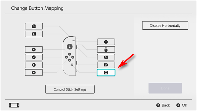 Select Capture Button to Disable it on Nintendo Switch