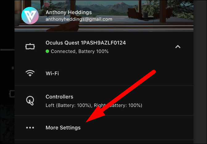 "Select ""More Settings."""