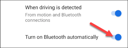 turn on bluetooth automatically when driving