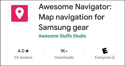 """The """"Awesome Navigator"""" app in the Play store."""