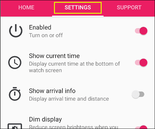 """Tap """"Settings"""" in the Awesome Navigator app."""