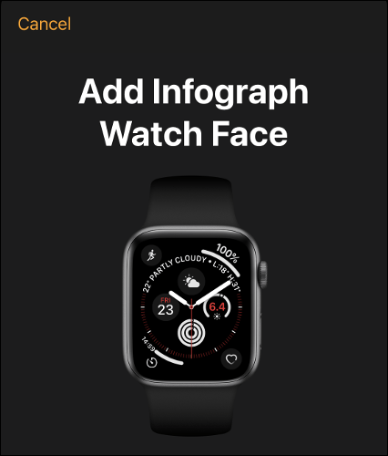Add Apple Watch Face to Your Faces