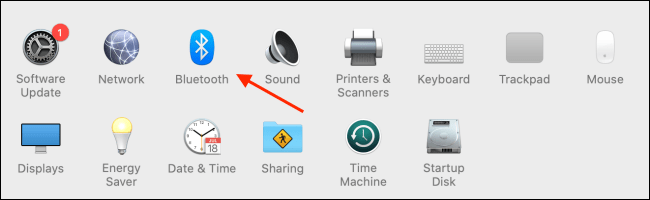 Choose Bluetooth from System Preferences