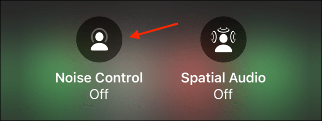 Select Noise Control in Control Center