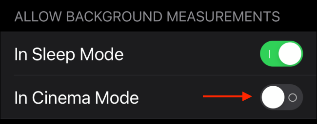 Tap to Enable Blood Oxygen During Theater Mode