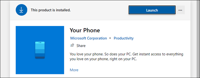 your phone in the microsoft store