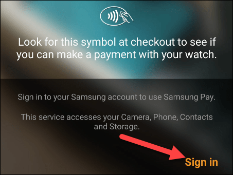 """tap """"sign in"""""""