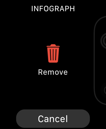 Remove Apple Watch Face