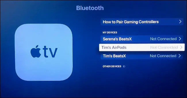 Pair Your AirPods to Your Apple TV Manually