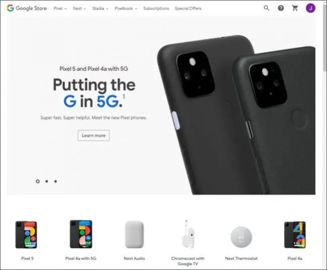 google store website