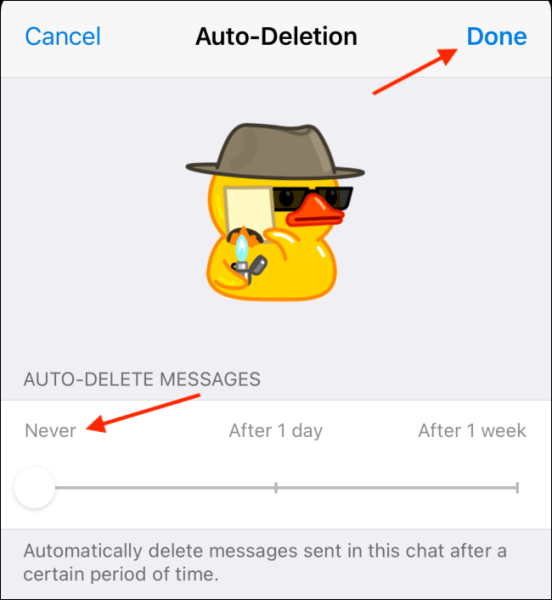Disable Auto-Delete Feature
