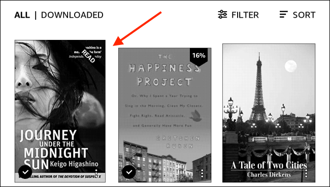 Select Book From Kindle Library