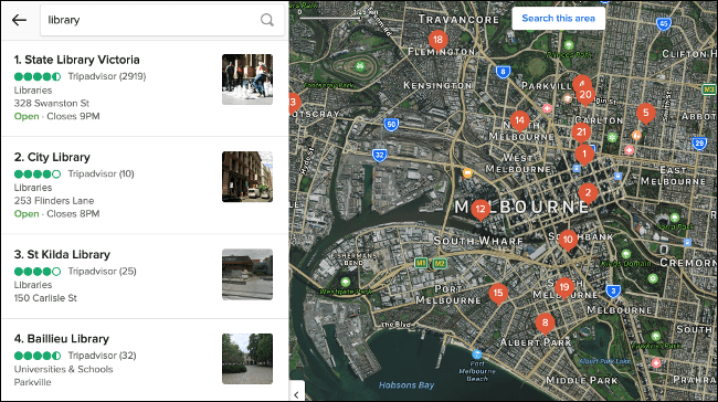 Business Results in DuckDuckGo Maps
