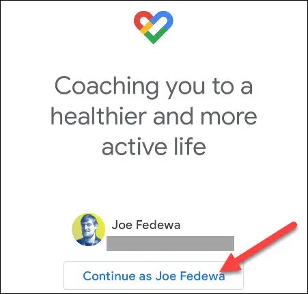 sign in to google fit