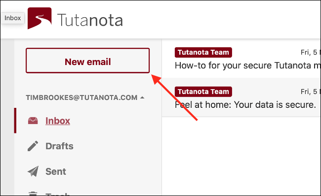 Compose Email in Tutanota