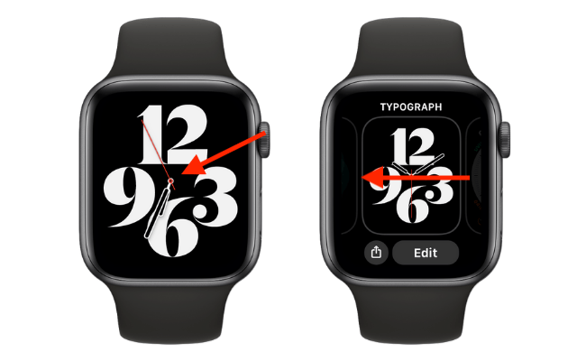 Go to Watch Face Browser on Apple Watch