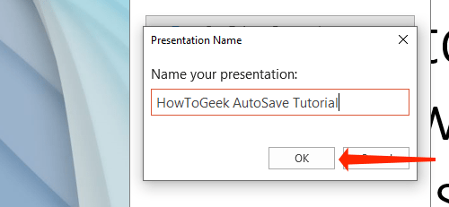Name your PowerPoint presentation