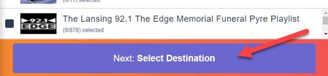 """click the """"select destination"""" button to proceed"""