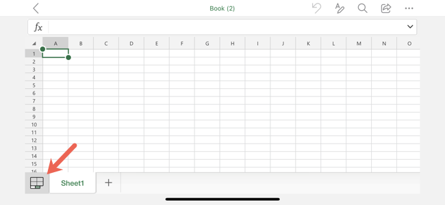 Sheets Tab in Excel on Mobile