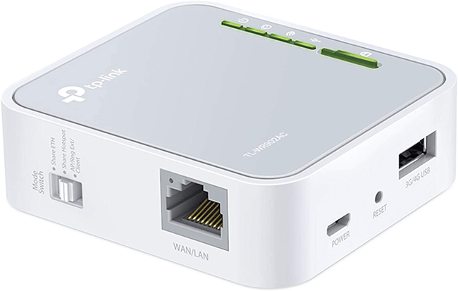 TP-Link AC750 travel router.