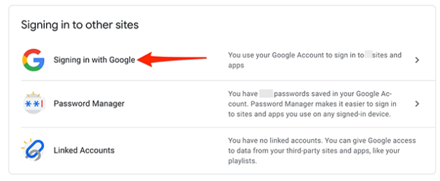 """Click """"Signing In With Google"""" option."""