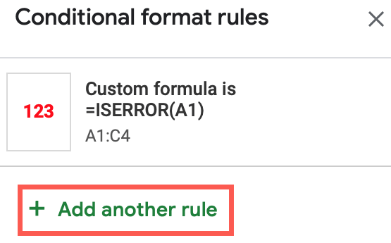 Click Add Another Rule