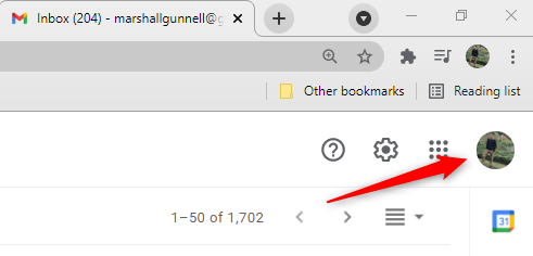 """Click your """"Google Profile Picture"""" in Gmail."""
