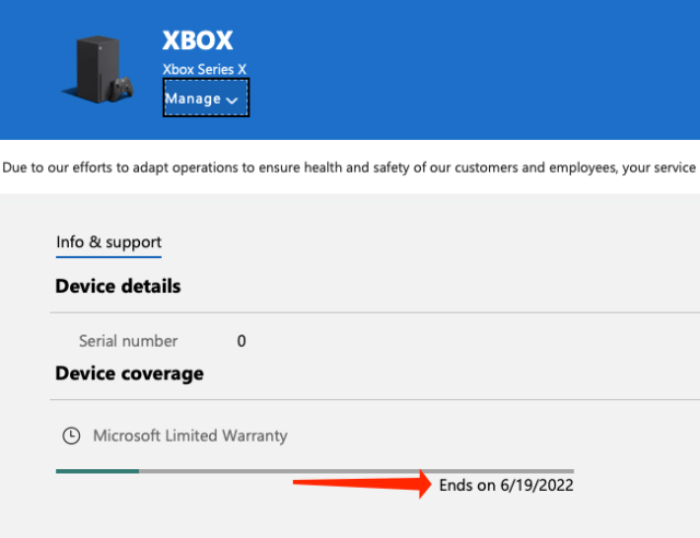 """You'll find the warranty information for your Xbox Series X